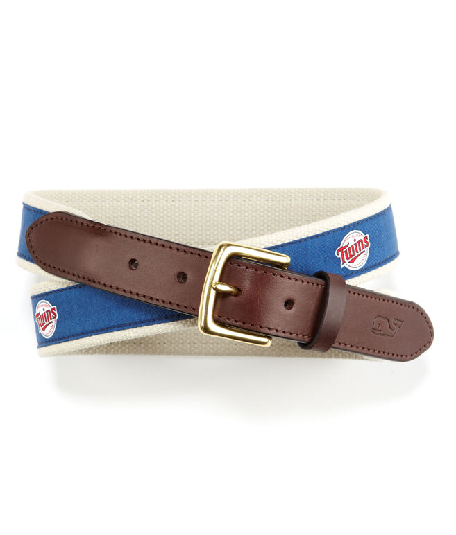 Minnesota Twins Canvas Club Belt