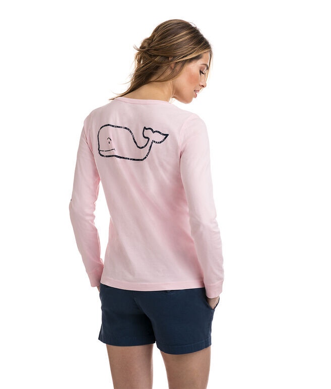 Long-Sleeve Whale Print Tee