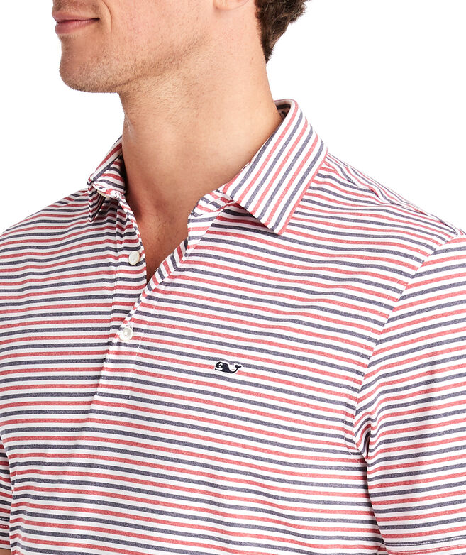 Multi Cationic Stripe Sankaty Polo