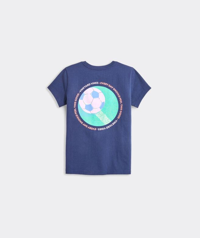 Girls' Soccer Circle Short-Sleeve Tee