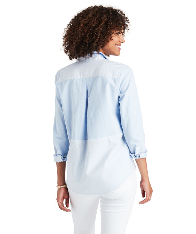 Boathouse Striped ColorBlock Chilmark Relaxed Button Down