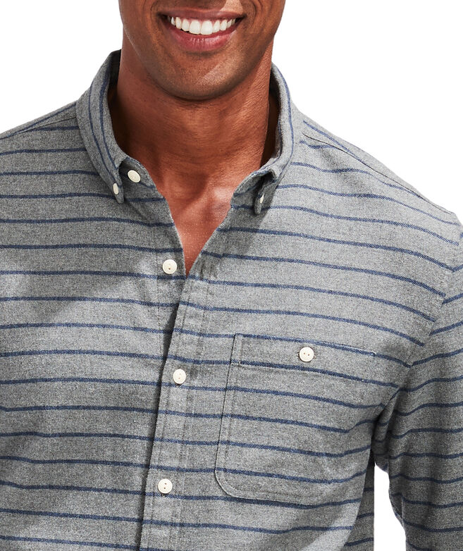 Slim Fit Leavenworth Flannel Longshore Button-Down Shirt