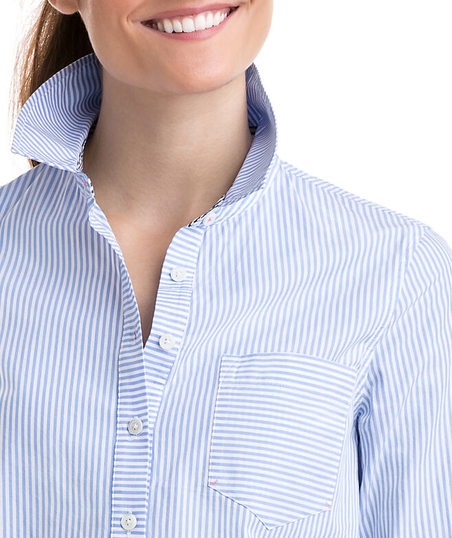 Long-Sleeved Striped Popover