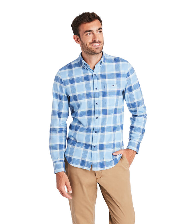 Slim Fit Mulberry Flannel Tucker Shirt