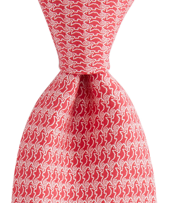 Extra Long Seahorse Printed Tie