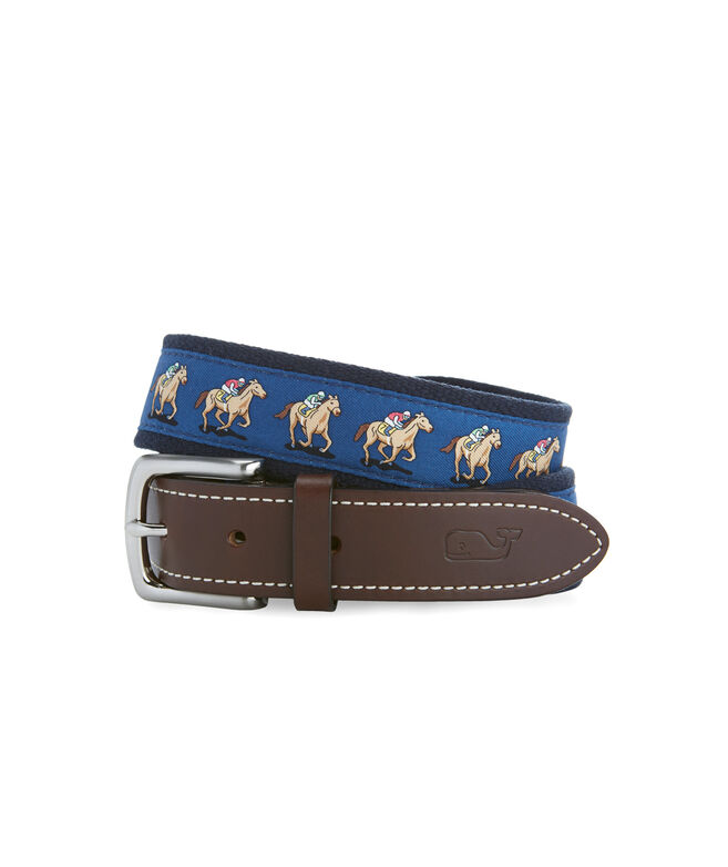 Kentucky Derby Horse Race Canvas Club Belt