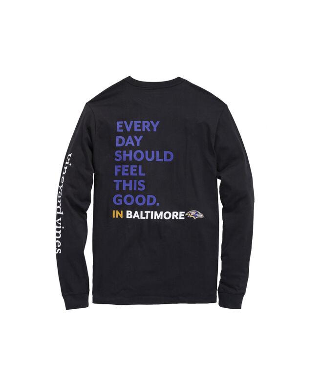 Baltimore Ravens Long-Sleeve EDSFTG T-Shirt