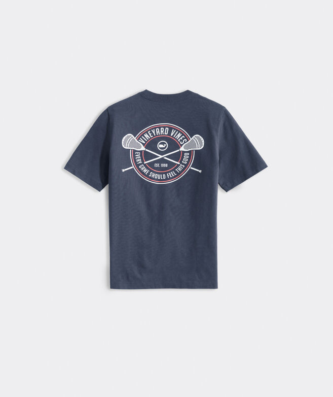 Boys' Lacrosse Crest Short-Sleeve Pocket Tee