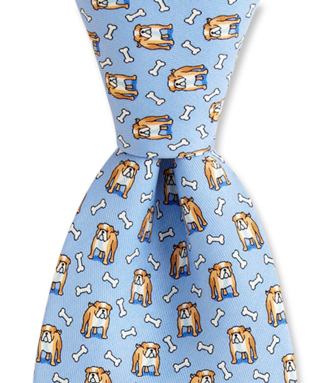 Bulldog Printed Tie