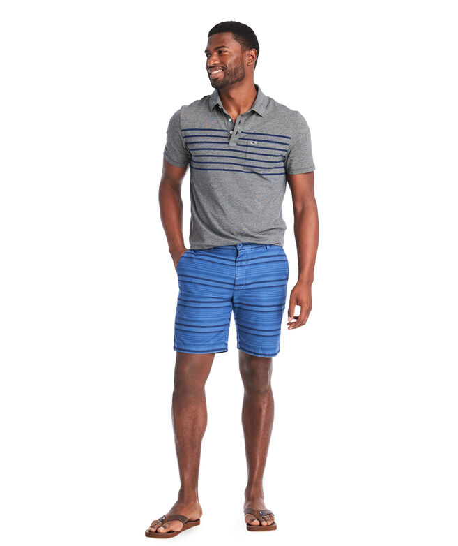 7 Inch Over-Dyed Stripe Island Shorts