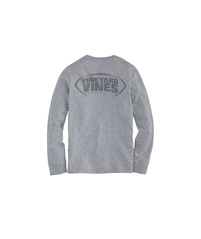 Boys Football Laces Long-Sleeve Pocket Tee