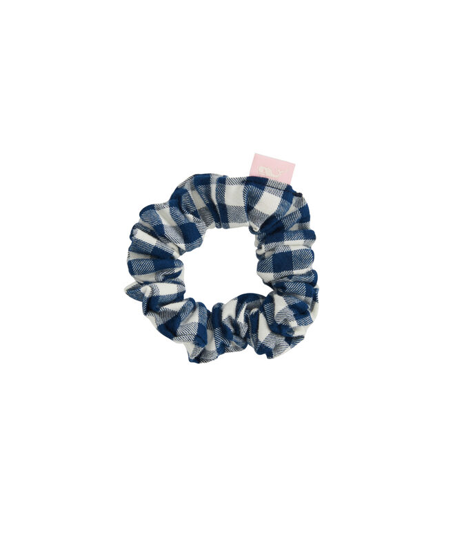 Girls Gingham Flannel Scrunchie