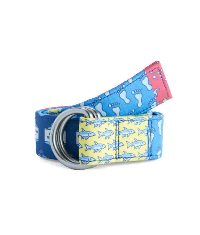 Boys Patchwork D-Ring Belt