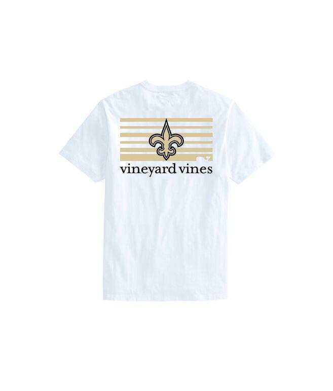Adult Saints Short-Sleeve Block Stripe T-Shirt