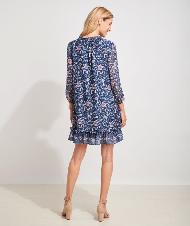 Helenium Floral Ruffle Dress