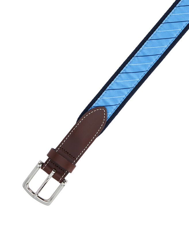 Collegiate Stripe Canvas Club Belt