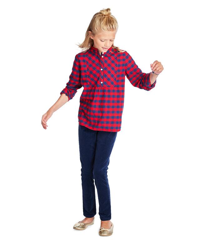 Girls Buffalo Check Flannel Popover