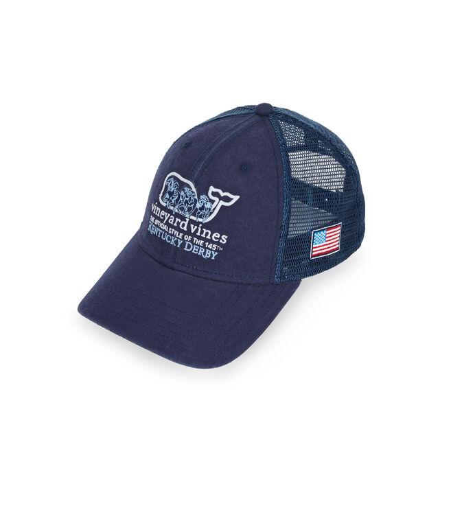 Horse Race Whale Fill Trucker Hat