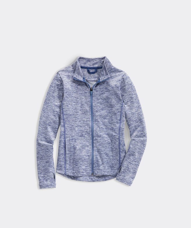 Girls' Brushed French Terry Full-Zip Jacket