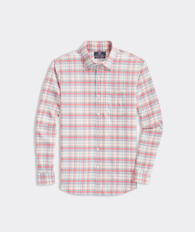Slim Fit Ferry Island Twill Longshore Shirt
