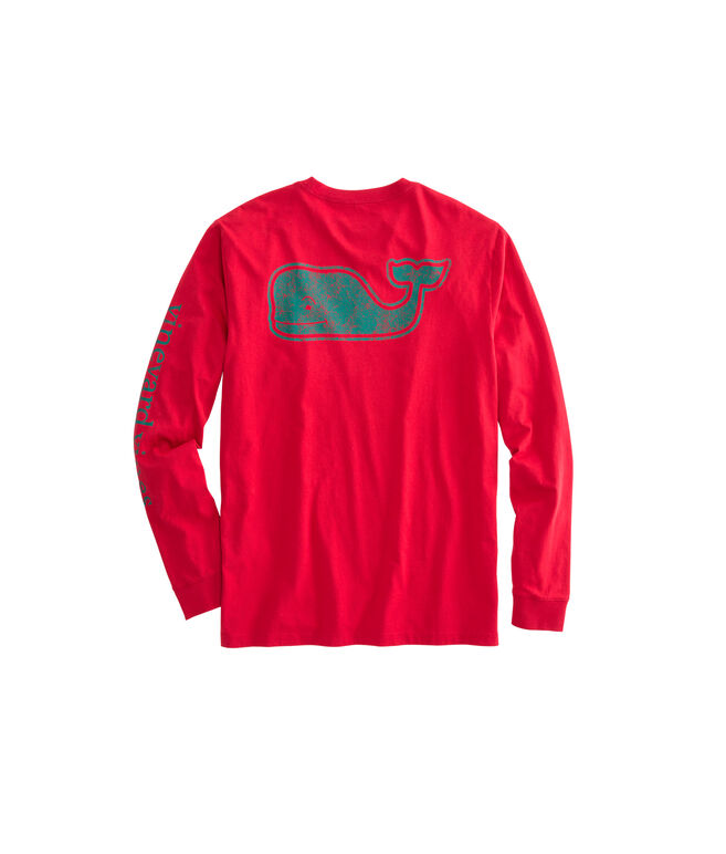 Long-Sleeve Vintage Whale Fill Pocket T-Shirt