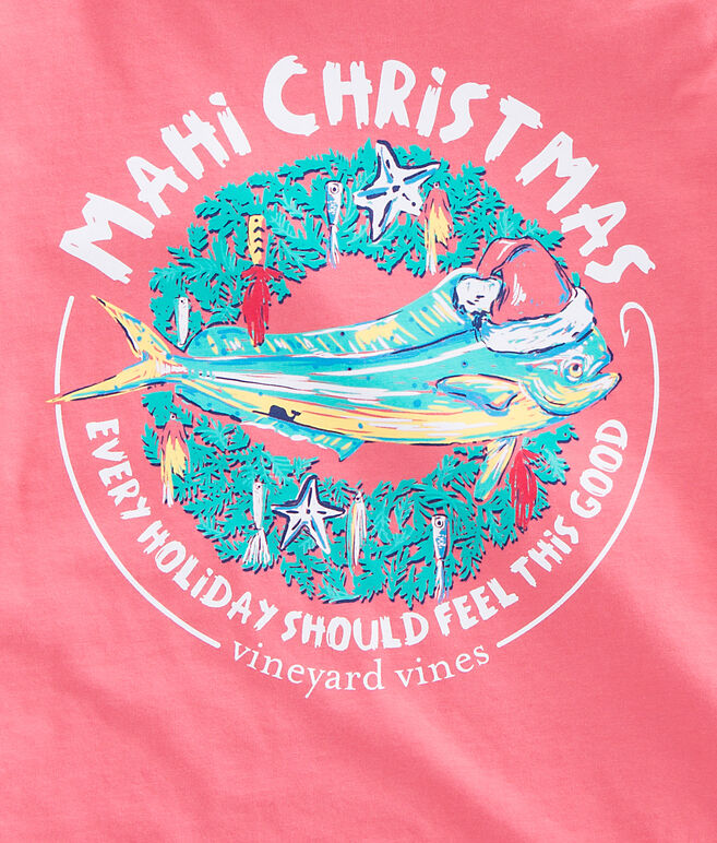 Long-Sleeve Mahi Christmas Pocket T-Shirt