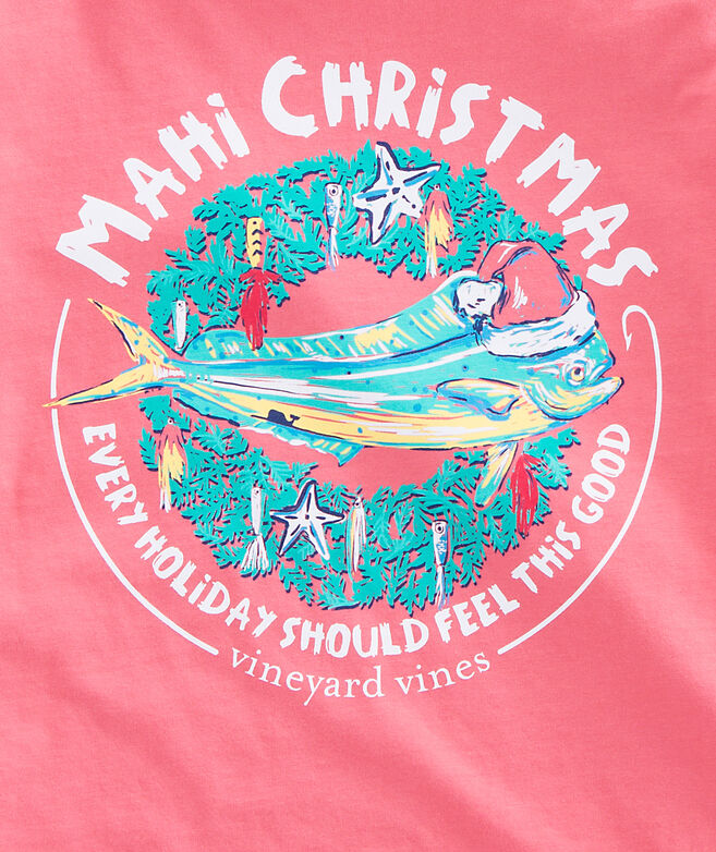 Long-Sleeve Mahi Christmas Pocket T-Shirt