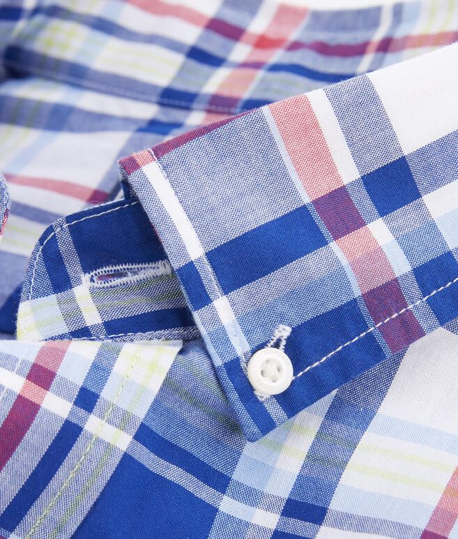 Short-Sleeve Palmer Hill Plaid Classic Tucker Shirt