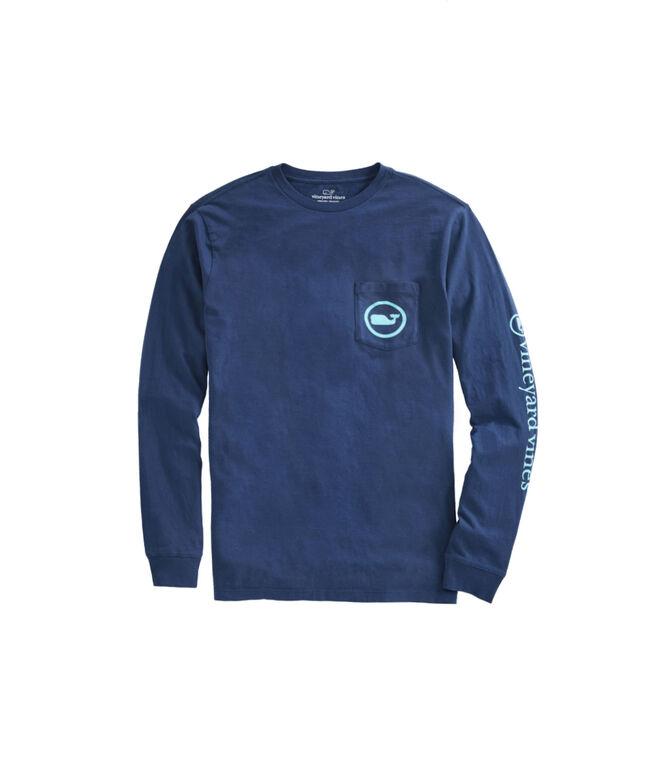 Long-Sleeve Starfish Whale Dot Pocket T-Shirt