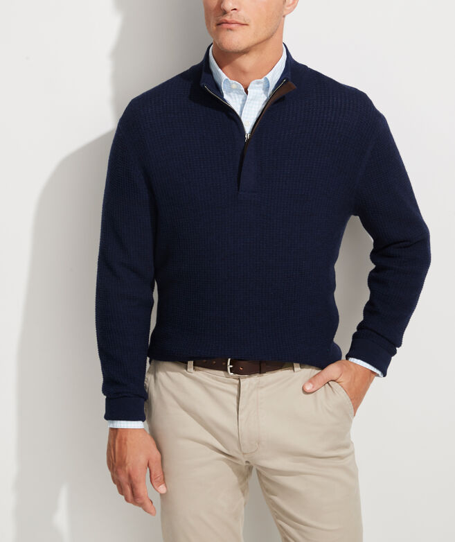 Oxbridge Wool 1/2 Zip Sweater