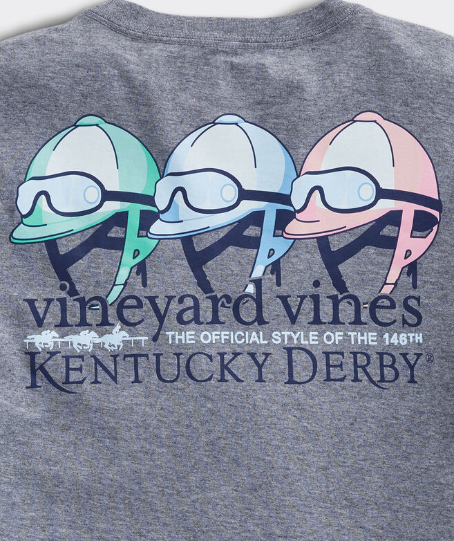 Kentucky Derby Jockey Helmets Long-Sleeve Tee