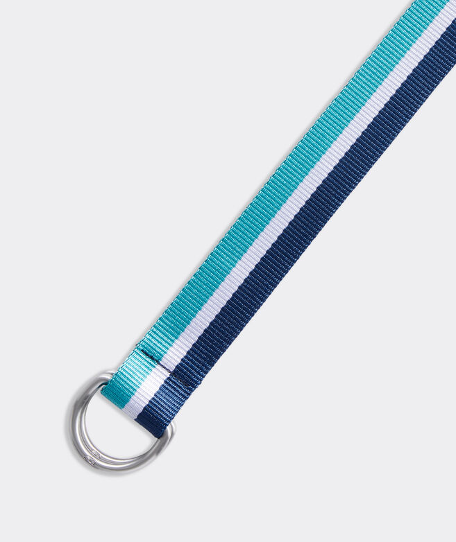 Stripe D-Ring Ribbon Belt