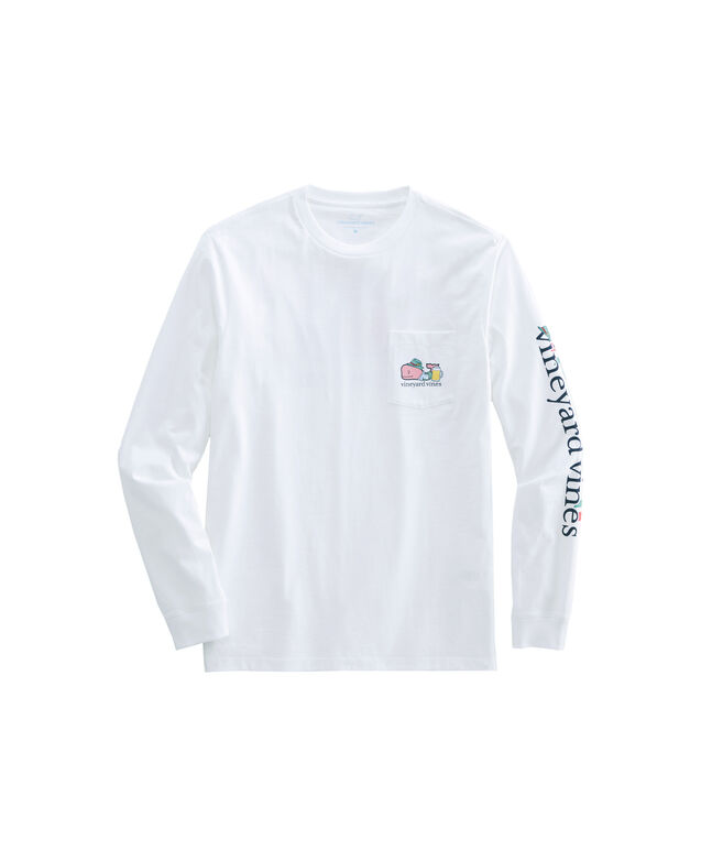 Oktoberfest Whale Long-Sleeve Pocket T-Shirt