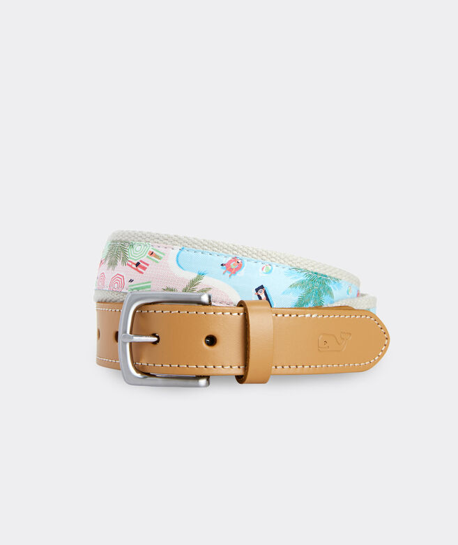 Pool Scene Canvas Club Belt