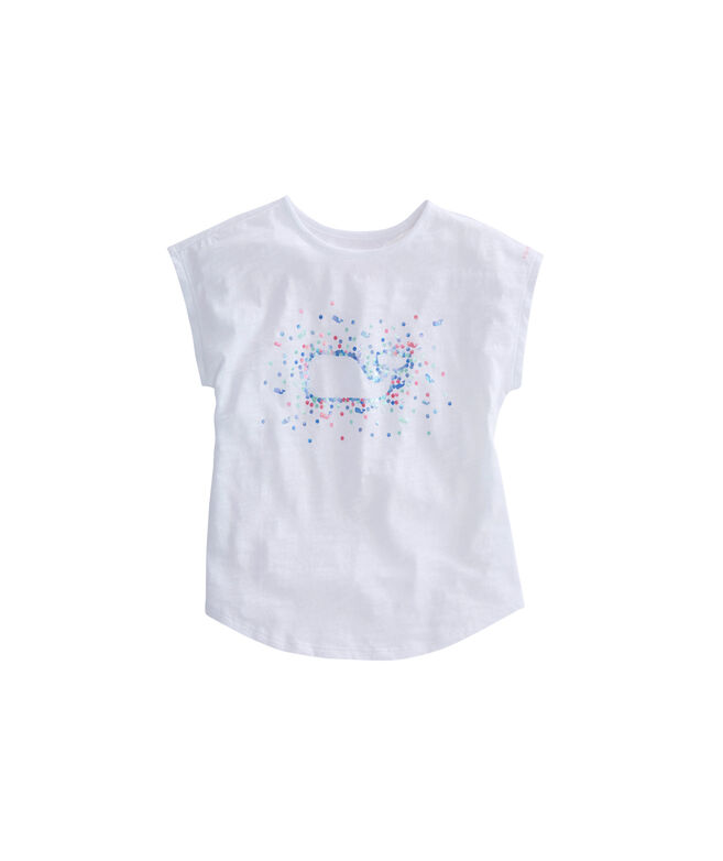Girls Foil Whale Swing Tee
