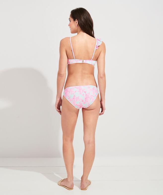 Bougainvillea Palm Ruffle Bikini Top