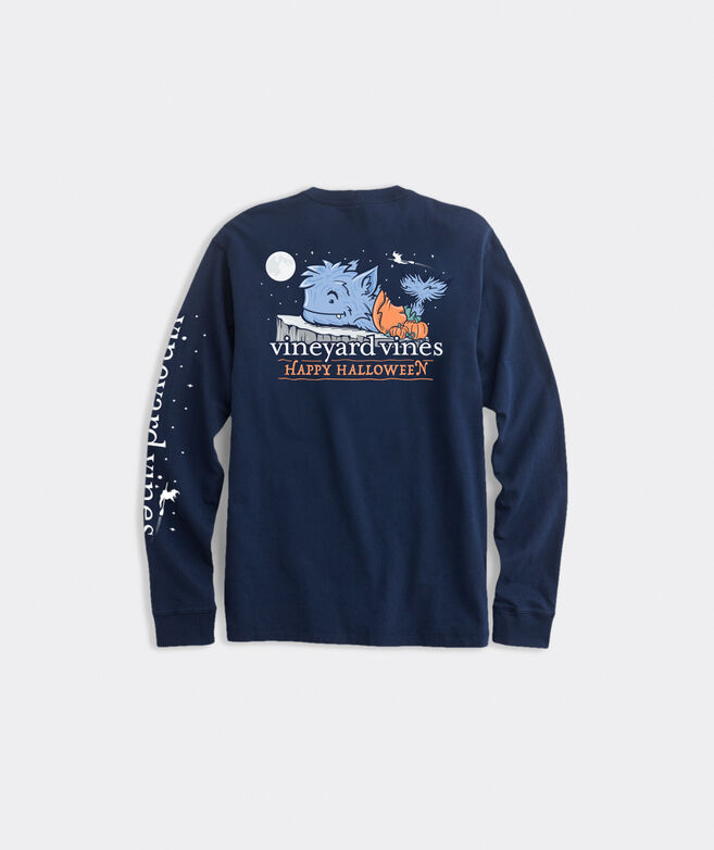 Halloween Werewhale Long-Sleeve Pocket Tee