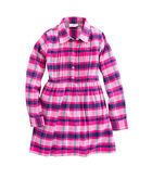 Girls Plaid Flannel Shirt Dress