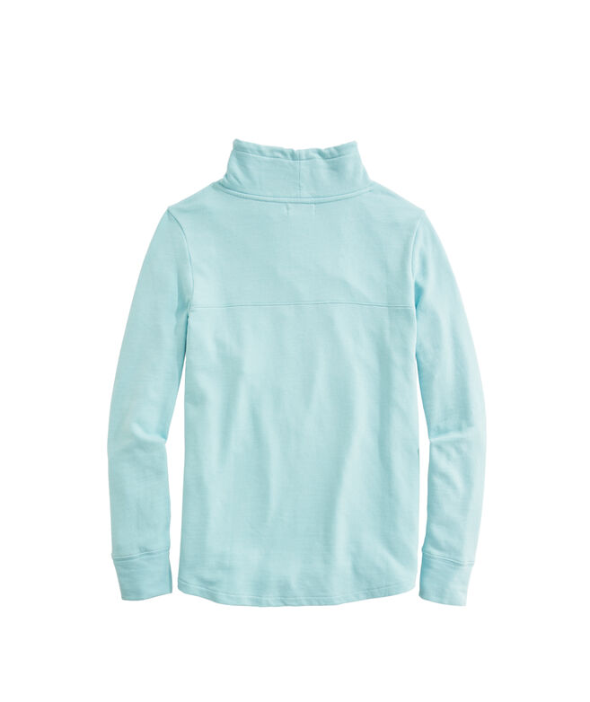 OUTLET Sunwashed Funnel Neck Relaxed Sweatshirt