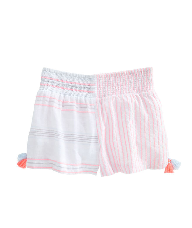 Baja Mixed Stripe Beach Shorts