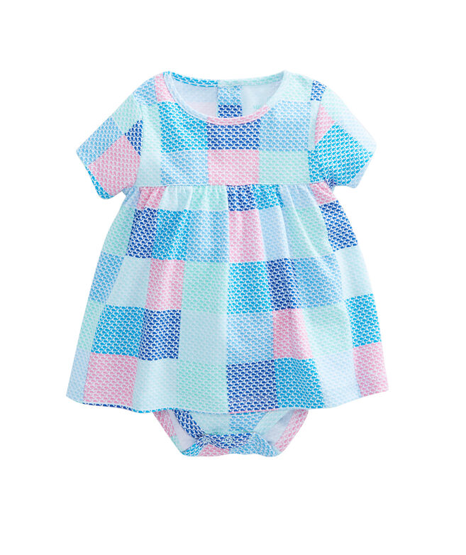 Whale Patchwork Onesie Dress
