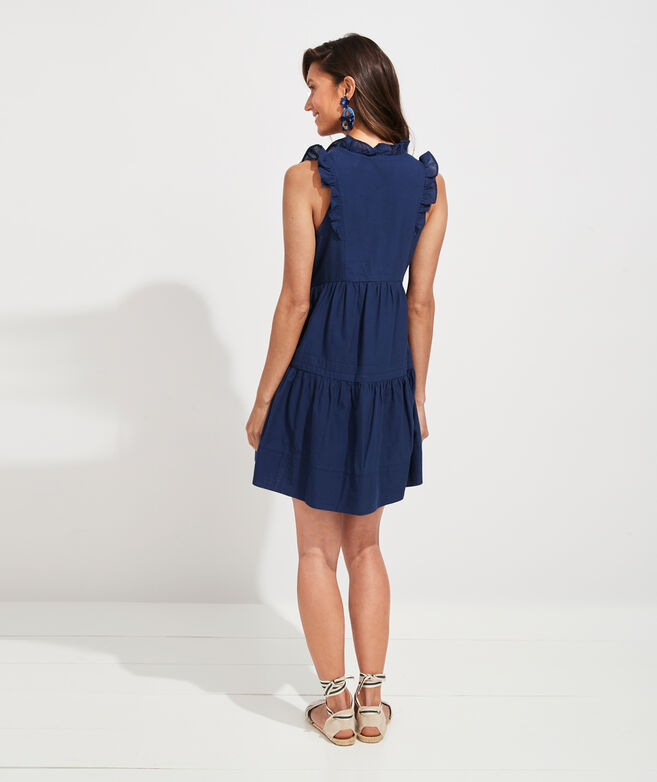 Solid Tiered Ruffle Dress