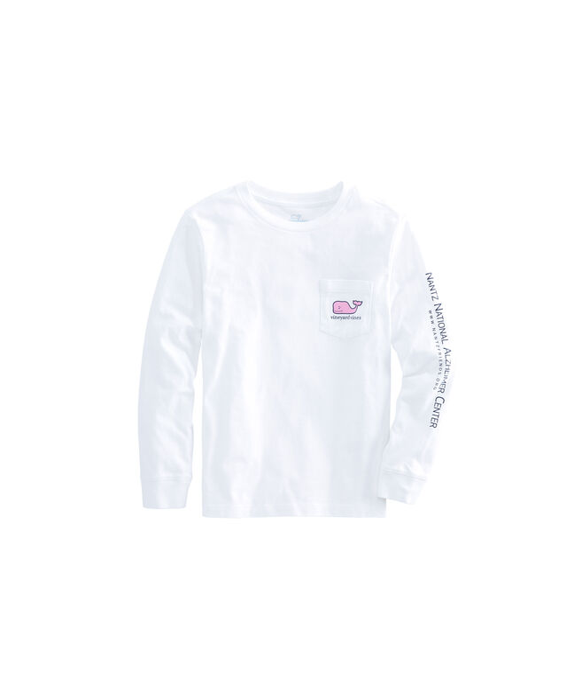 Boys Jim Nantz Forget-Me-Knot Long-Sleeve Whale Fill T-Shirt