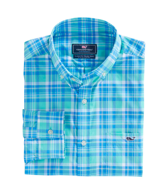 Sandspar Plaid Performance Classic Tucker Shirt