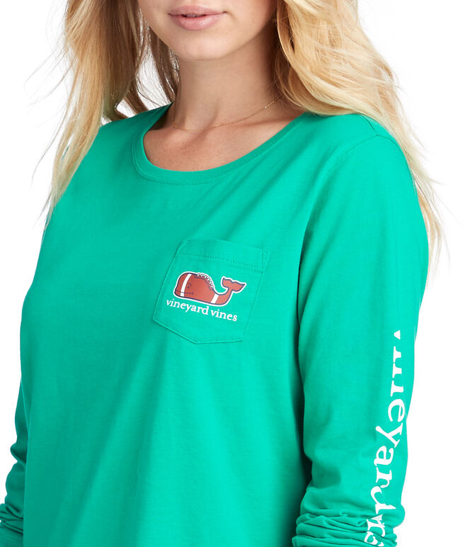 Long-Sleeve Classic Football Whale Tee