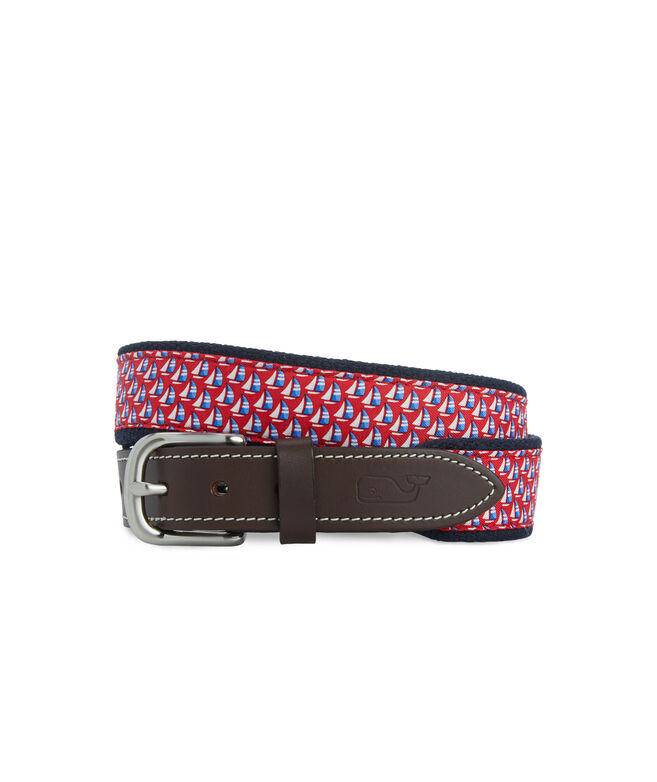Boys Sailboat Print Canvas Club Belt