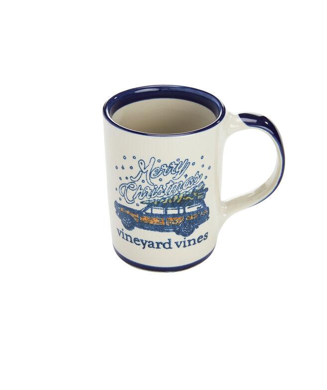 Stoneware Truck & Tree Mug