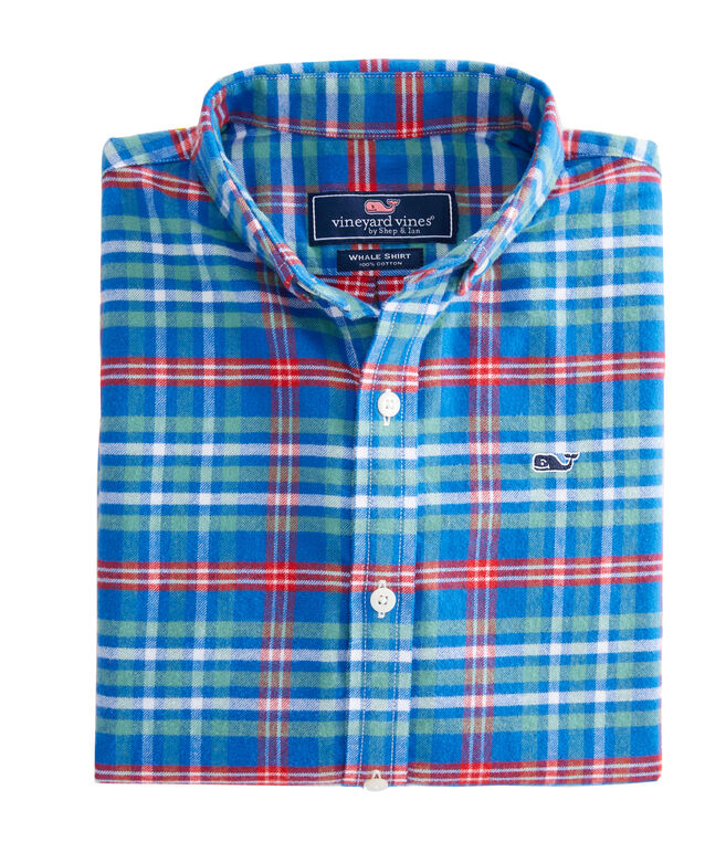 Boys Mill River Flannel Whale Shirt
