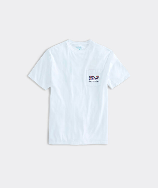 Limited-Edition 2020 VOTE Buttons Whale Fill Short-Sleeve Pocket Tee