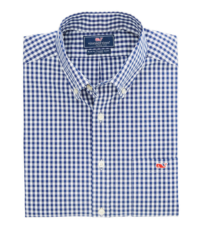 Maple Gingham Slim Tucker Shirt